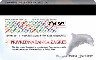 MasterCard® Kartica Zadnja Strana